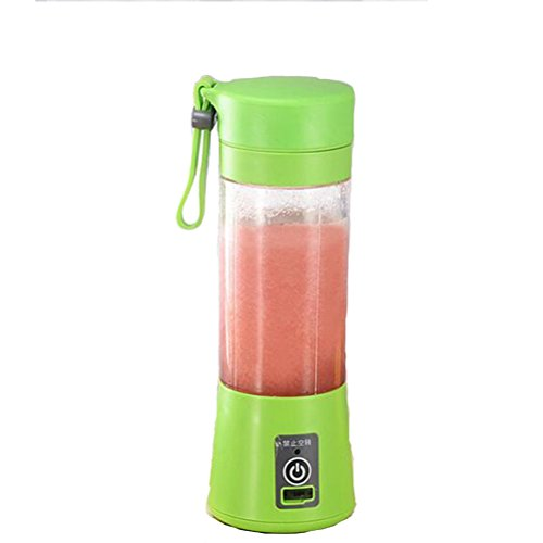 Affordable GSPOR Portable Juicer Blender,4-Blade Electric Mini Juicer Cup USB Charging Electric Fruit Mixer For Student Home Travel, Rechargeable,Green