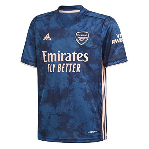 adidas Kinder Trikot Arsenal FC 3rd Jersey 2020/21, Legend Marine/Light Flash orange, 140, GH6645