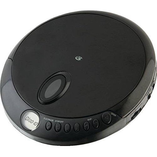 GPX PC301B Portable CD Player with Stereo Earbuds and Anti-Skip Protection (PC301B),Black