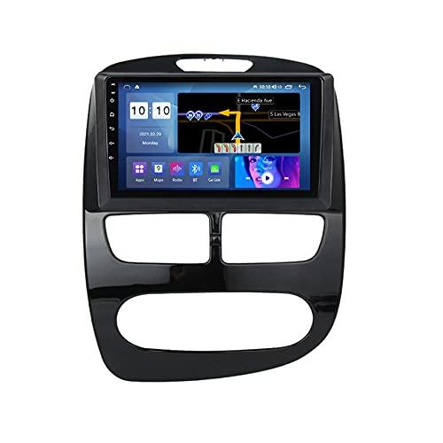 ADMLZQQ Audio estéreo para Coche Android 10 para Renault Clio 2013-2015 Pantalla táctil HD navegación GPS Manos Libres FM USB Bluetooth Control del Volante Cámara Trasera,Auto,M150S