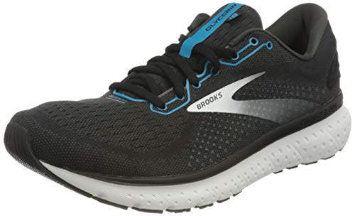 Brooks Herren Glycerin 18 Laufschuh, Black/Atomic Blue/White, 45.5 EU
