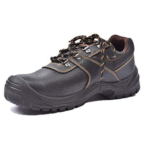 Zapatos de seguridad para hombres Botas de trabajo con punta de acero Zapatos de trabajo impermeables antideslizantes Botas de seguridad para construcción al aire libre 43EU