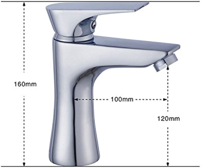 LHbox Basin Mixer Tap Bathroom Sink Faucet Hot and cold basin tap, full copper wash basin mixer