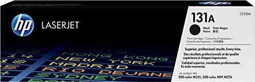 HP 131A CF210A Cartuccia Toner Originale da 1520 Pagine, Compatibile con le Stampanti Laserjet Pro Serie 200, M251 e M276 MFP, Nero