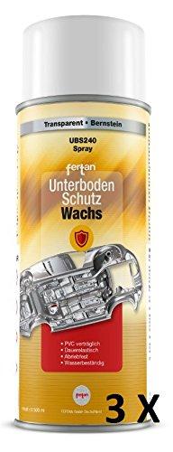 3 X FERTAN 500 ML UNTERBODENSCHUTZWACHS UBS240 UNTERBODEN WACHS PKW SCHUTZ RESTAURATION UNTERBODENSCHUTZWACHS