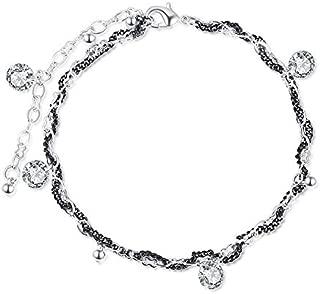NEVI MultiStrand Handmade Designer AAA Zirconia Rhodium Bracelet for Women & Girls