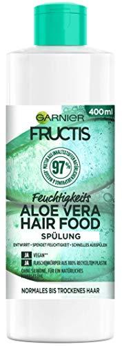 Garnier Fructis Hair Food Spülung, Feuchtigkeitsspendendes Aloe Vera, vegane Formel, für normales, trockenes Haar, 400 ml