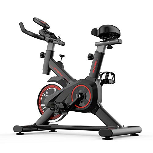 HANMIAO Indoor Cycling Bike Pro Sport Exercise Bike Spinning Bicycle, Ultra-Quiet Fitness Bike And Ab Trainer, Home Gym Bicycle Sports Fitness Equipment Cardio Trainer, Maximum Load 330lbs
