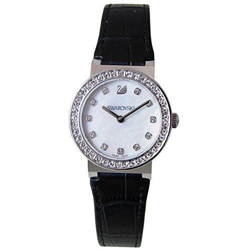 Swarovski 5027221 - Reloj para Mujeres, Correa de Cuero Color Negro