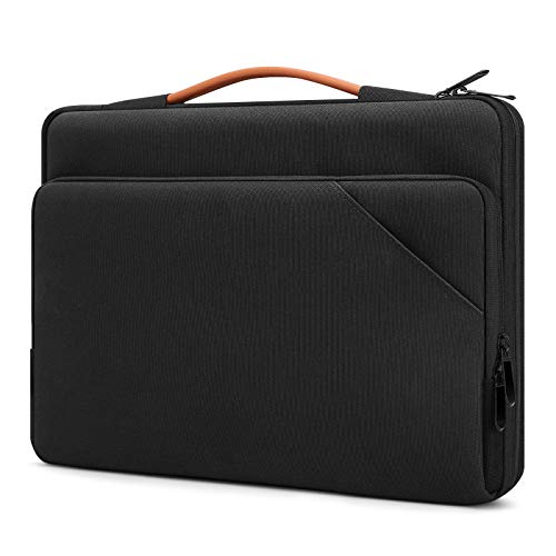 TiMOVO 13.3 Inch Laptop Tablet Sleeve Case with Handle Compatible with iPad Pro 12.9 2020, MacBook Air 13 Inch, MacBook Pro 13', Galaxy Tab S7+, Surface Pro X/7/6/5/4/3, Black