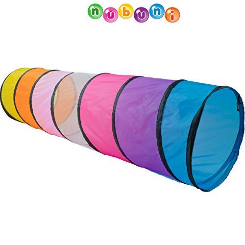 NUBUNI Tunnel XL 180 cm. : Tunnel Kinder : Kriechtunnel : Krabbeltunnel für Kinder : Spieltunnel Kind : Krabbeltunnel Baby : Kinder Tunnel : Kinder Höhle : Krabbeltunnel