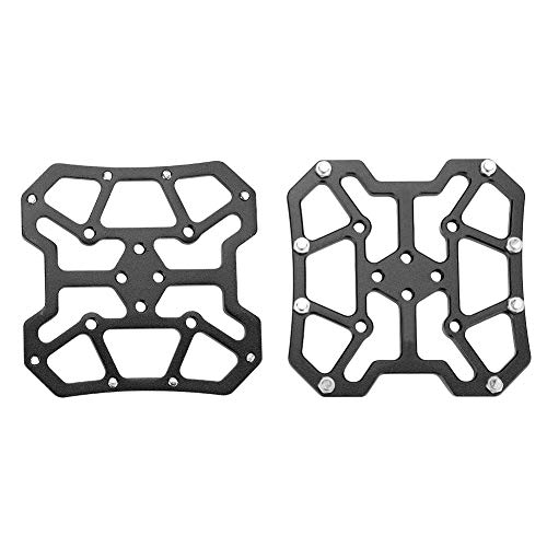 SOONHUA Bike Clipless Pedal Adapters,1 Pair Aluminum Alloy Bike Bicycle Pedal Platform Adapters for SPD,Black