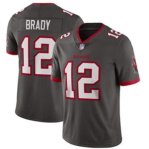 OMG020 Nueva Camiseta de fútbol Bordada Brady de la NFL Pirates # 12,black-12,S