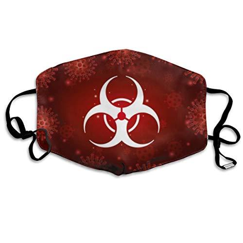Reusable Fabric Bandana Face Breathable Skin Care Illustration Hazard With Covid Coronavirus Coronavirus Designer Custom Protection Large For Women Men