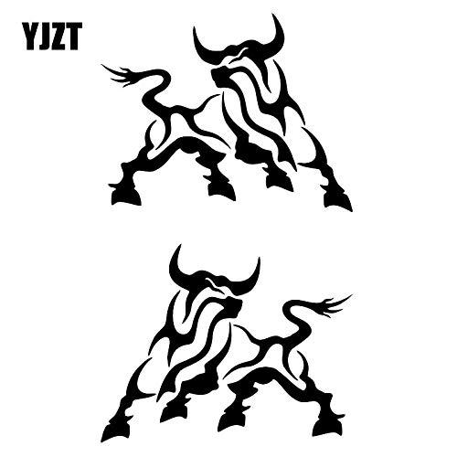 JYIP 12 5X 9 9 CM 2x Cartoon Animal Cow Decal Vinyl Car Sticker Funny Jdm Black/White C26-0064-Black