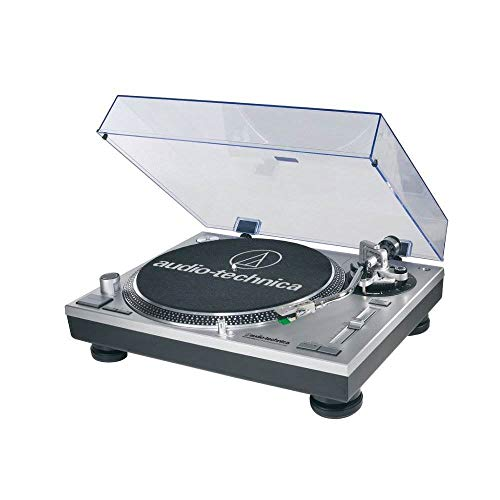 Audio-Technica AT-LP120-USB Direct-Drive Professional Turntable (USB & Analog), Silver