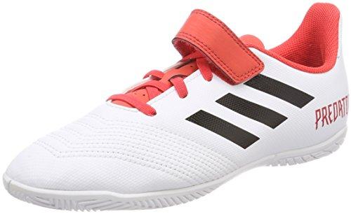 Adidas Predator Tango 18.4 In J H&L, Zapatillas de fútbol Sala Niños Unisex niño, Blanco (Ftwbla/Negbas/Correa 000), 31.5 EU