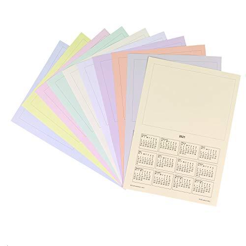 Calendario de 2021 A4 en blanco, 10 hojas, añade tu imagen para un calendario personalizado, regalo escolar