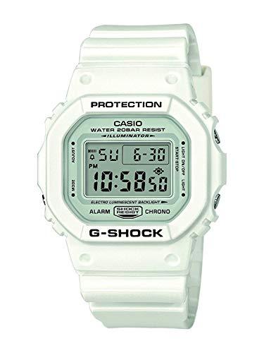 Casio G-SHOCK Orologio 20 BAR, Bianco, Digitale, Uomo, DW-5600MW-7ER