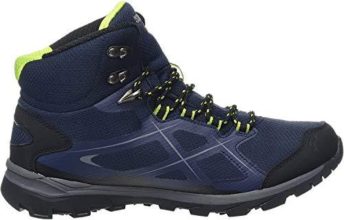 Regatta Kota Mid High Rise Hiking Boots Men's, Blue (Nvyblz/Limeg 21l), 7 UK (41 EU)