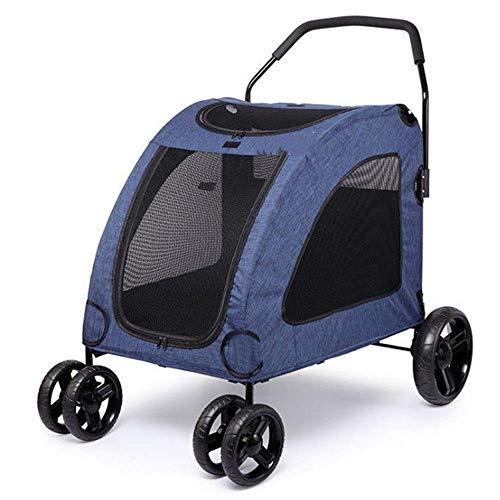 Carrito para Mascotas Cochecito para Mascotas Cochecito para Gatos Y Cachorros Fácil De Instalar Rápido Plegable Viaje Al Aire Libre De Cuatro Ruedas Fácil De Llevar Mascotas Suministros para Mascota