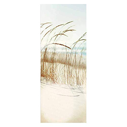 ZDDBD Türtapete Selbstklebend Türposter Fototapete Türfolie Poster Tapete Strand Meer Nordsee Ostsee Beach Wasser Blau 90X200Cm ( Reed )