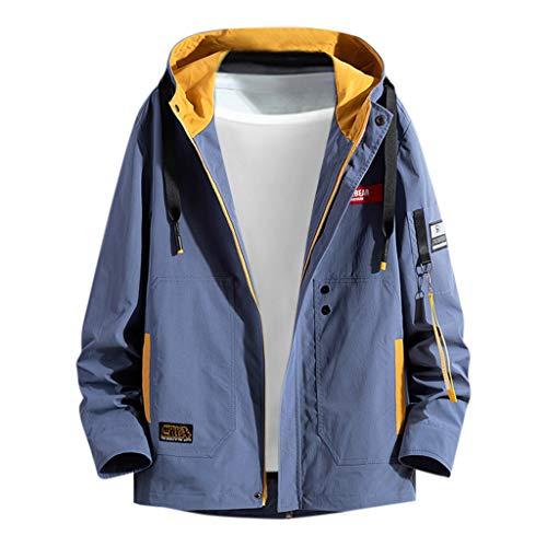 Zip Kapuzenjacke Herren für Kapuzenpullover für Herren, Holeider Gym Sweatjacke Hoodie Kapuzen-Sweatshirt mit Reißverschluss Casual Mode Herrenjacke Mantel für Männer