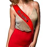 Banda Despedidas de Soltera Miss España Color Rojo