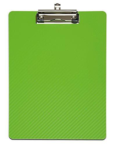 DIN A4 Klemmbrett Grün MAULflexx, Strapazierfähige Schreibplatte 22x31 cm, Einschiebbare Aufhängöse