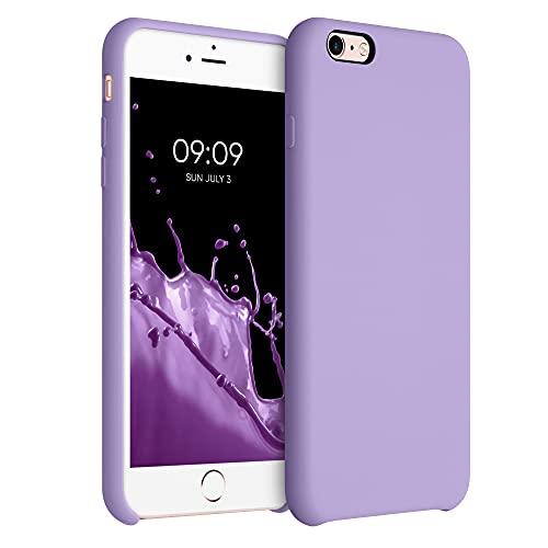 kwmobile Cover Compatibile con Apple iPhone 6 Plus / 6S Plus - Cover Custodia in Silicone TPU - Back Case Protezione Cellulare Lavanda Lilla