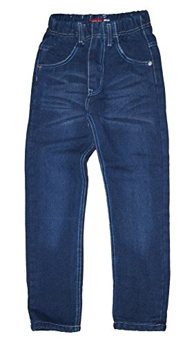 familientrends Thermojeans Thermohose Schneehose gefütterte Jungen Kinder Jeans warm Gr 92-152 (92, Blau)