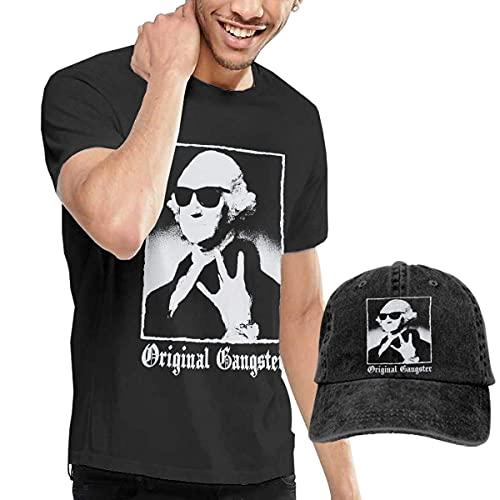 Camisetas de Hombre + Sombrero de Vaquero Original Gangster George Art Fashion That for Black
