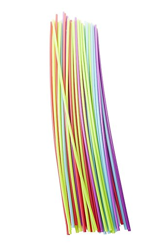 PZ 100 CANNUCCE LUNGHE CM 100 COLORED STRAWS FOR DRINKS COLORATE MONOUSO PER COCKTAIL FESTE PARTY