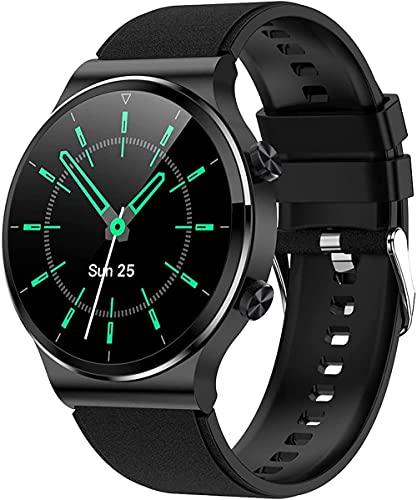 G51 Smart Watch 1 28 Pollice Schermo Rotondo Bluetooth Chiamata 4 GB di Memoria Musica IP67 Impermeabile Lungo Tempo Standby Orologio Cuore Adatto per Android IOS-E
