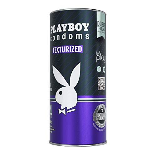 Playboy Condoms Texturizados, Lata con 24 Preservativos