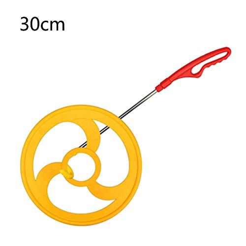 Aros para niños - Rolling Hoop Aro para jardín de Infantes, para niños y niñas Los niños mejoran la coordinación Mano-Ojo 30cm Push Iron Ring Toy/B
