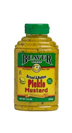 Beaver Bread & Butter Pickle Mustard, 12.5 Ounce Squeeze Bottle
