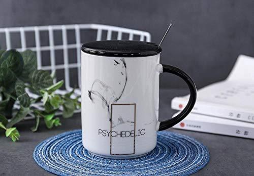 Aarr koffiemok 400 ml gouden tekst marmer mok keramiek met deksel lepel creatieve mok water kantoor koffie melk mok