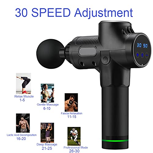 UKKD Fascia Gun Massage Gun Deep Tissue Percussion Fascia Gun Muscle Pain Relief Body Neck Exercising Relaxation 30 Speeds Function