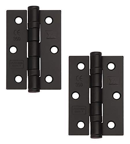 Excel XL965-BLK par med 3 tum gångjärn i grad 7 dörrar, matt svart