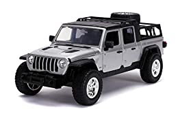 Authentically licensed product from the Fast & Furious Saga. As seen in Fast 9, Tej's 2020 Jeep Gladiator has been taken directly from the big screen and brought to you in a 1:24 scale die - cast model Crafted from durable materials such as 100% die ...