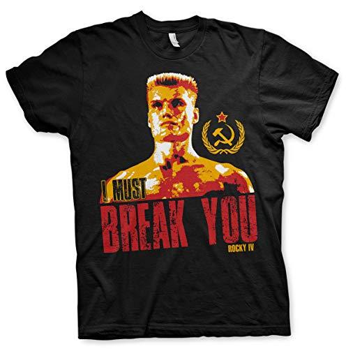 Ivan Drago Rocky IV Dolph Lundgren Balboa Oficial Camiseta para Hombre