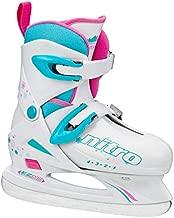Lake Placid Girls Nitro 8.8 Adjustable Figure Ice Skate, White, Medium