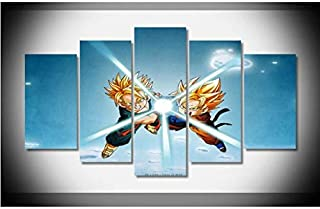Dragon Ball Z Pictures of Vegeta Vs Goku Poster Framed Gallery wrap Art Print Home Wall Decor Wall Picture Already to Hang