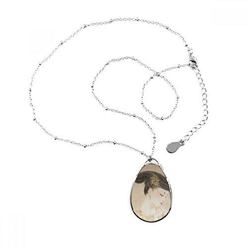 DIYthinker Collar con Colgante de lágrima de Belleza Tradicional China con Cadena Decorativa para Regalo