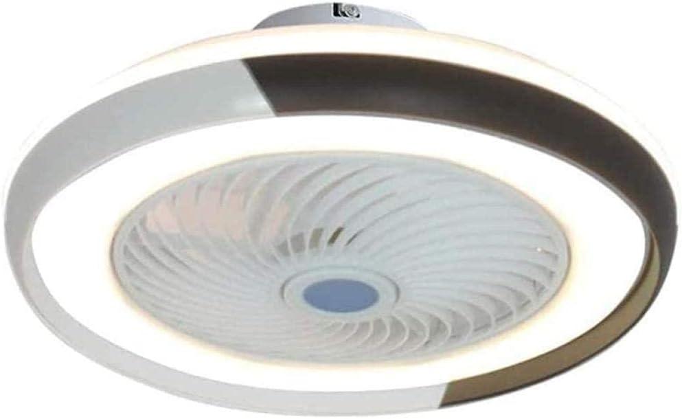 YIQIFEI Ventilador de Techo de 60W con lámpara Ventilador de Techo de 5 aspas Luz LED con Control Remoto para el hogar Sala de Estar Salón Guardería Dormitorio O (lámpara de Ventilador)