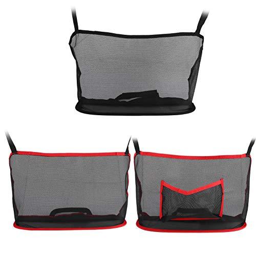 zhoul - Soporte para bolso de mano con bolsillo red para automóvil,bolsa organizadora para el asiento trasero del automóvil, accesorio de bolsa red en el respaldo del asient(Rojo sin bolsa)