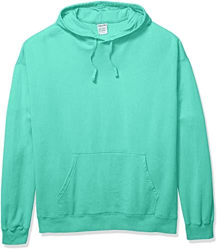 Hanes Men's ComfortWash Garment Dyed Fleece Hoodie Sweatshirt, Mint, X Large