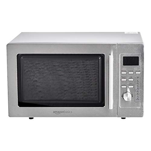 Amazon Basics Digital Countertop Microwave with Grill, 25L, 900W - Stainless Steel