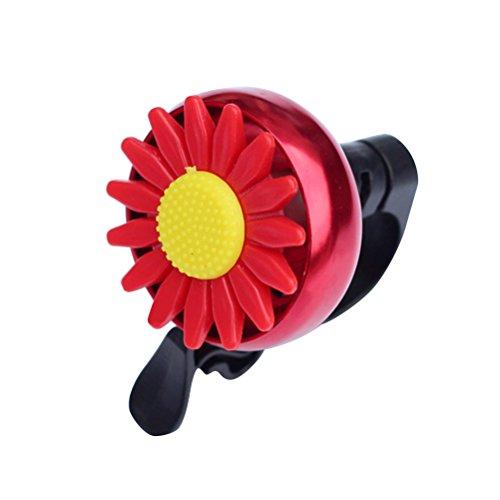 Clispeed Bambini a forma di girasole Bambini Bici Bicicletta Ciclismo Campanello Manubrio Anello Ringer Horn (Rosso)
